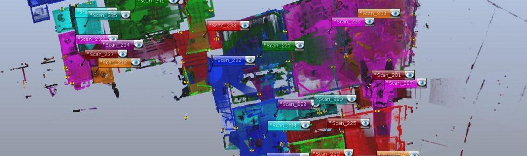 Standortübersicht in 3D-Punktwolke